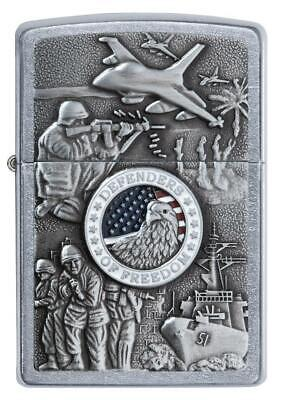 Genuine Zippo Joined Forces Lighter Military Emblem US Collectible Army Navy Air