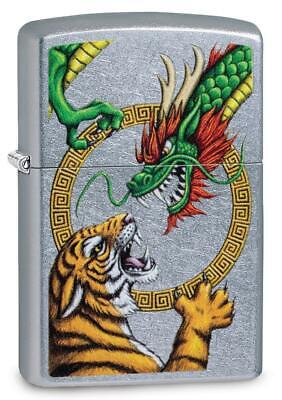 Zippo Windproof Tiger Fighting Chinese Dragon Lighter, 29837, New In Box