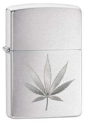 Zippo Lighter Laser (Zippo Windproof Laser Engraved Marijuana Leaf Lighter, 29587, New In)