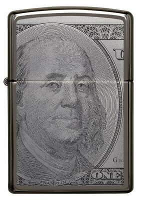 Zippo Windproof 100 Dollar Bill Lighter, Currency Design, 49025, New In Box