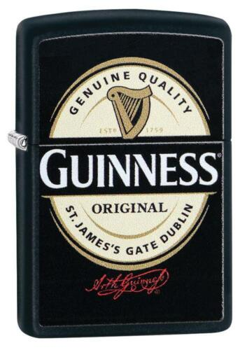Zippo Windproof Lighter With Guinness Beer Logo, 29755, New In Box