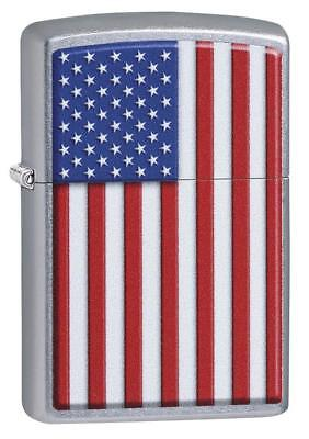 Zippo Windproof American Flag Lighter, Patriotic, 29722, New In Box