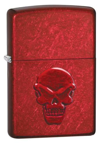 Zippo Windproof Lighter With Stamped Devil Skull, Doom, 21186, New In Box