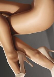 Marilyn Naked Luxe 40 Denier Tights Pantyhose, Nude XL Made in Europe, skin tone