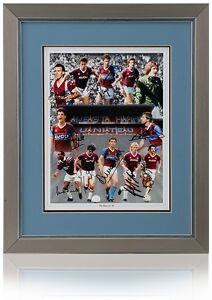 West-Ham-United-Boys-of-86-hand-signed-montage-by-12-AFTAL-photo-proof-COA