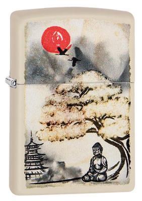 Zippo Windproof Buddha Lighter With Pagoda and Bonsai, 29846, New In Box
