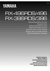 yamaha rx 396 receiver owners manual ebay. Black Bedroom Furniture Sets. Home Design Ideas