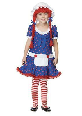 New Enchanted Rag Doll Child Costume Small 4-6 - Rag Doll Costume Kids