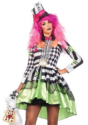 Deliriously Mad Hatter Costume Female Mardi Gras (E) - Female Mad Hatter Costume