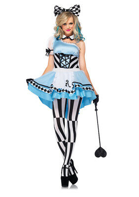 Leg Avenue Women's Psychedelic Alice Costume, Dress-Up, Play, Theatre - Alice In Wonderland Play Costumes