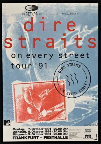 Dire Straits Concert POSTER On Every Street Open Air Tour