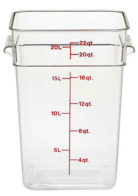 Cambro 22sfscw135 22 Qt Food Storage Container Square Clear