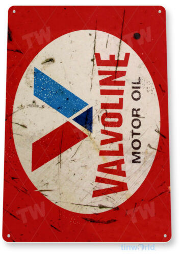 TIN SIGN Valvoline Motor Oil Red Medal Décor Wall Art Gas Garage Shop Bar A669