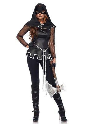 Sassy Grim Executioner Adult Womens Costume, Black, Leg Avenue - Executioner Costumes