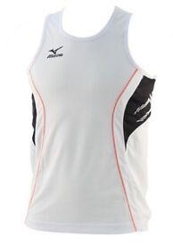 Mizuno Singlet Team Running 52HM001-70 Top White/Black Brand New