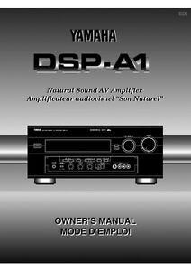Yamaha dsp a1 amplifier owners manual for Yamaha ysp 5600 manual