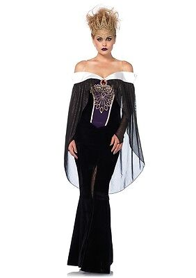 Bewitching Evil Queen Adult Womens Costume, Black, Leg Avenue