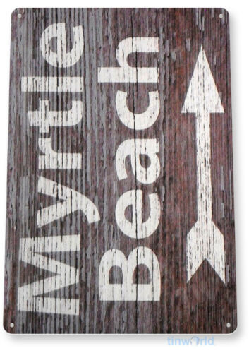 TIN SIGN Myrtle Beach Metal Décor House Cottage Kitchen Store Ranch Bar A859