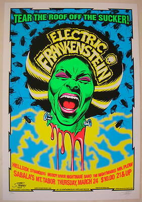 2005 Electric Frankenstein - Silkscreen Concert Poster by Stainboy