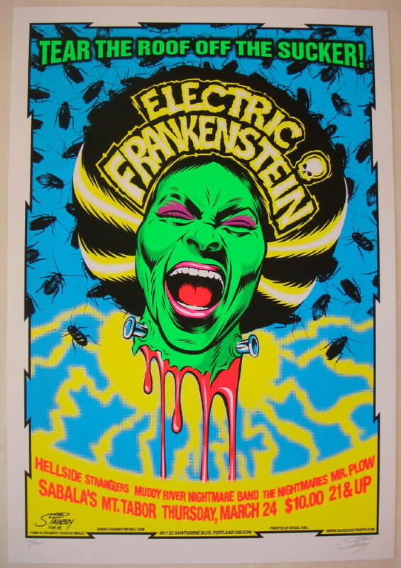 2005 Electric Frankenstein - Silkscreen Concert Poster by Stainboy