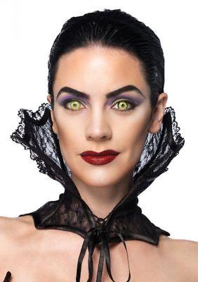 Korsett Kragen (Vampir Korsett Kragen Spitze Schwarz Leg Avenue Halloween Vampirin Kostümzubehör)