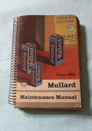 Mullard Maintenance Manual TP270 - Radio Valves / Data/TV Tubes/Equivalent List