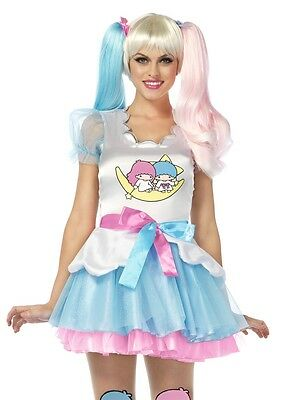 Hello Kitty Little Twin Stars Dress Adult Womens Costume, Multi, Leg Avenue - Twin Costumes