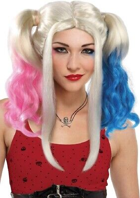Ladies Daddy's Girl Pigtail Wig Suicide Halloween Fancy Dress Costume Outfit - Daddy Daughter Halloween Costumes