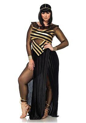 Egyptian Nile Queen Adult Womens Plus Size Costume, Black/Gold, Leg Avenue (Plus Size Egyptian Costume)