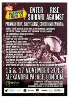 Vans Warped Tour 2013 Original Uk 15 X 20 Cm Flyer Enter Shikari Rise Against -  - ebay.it