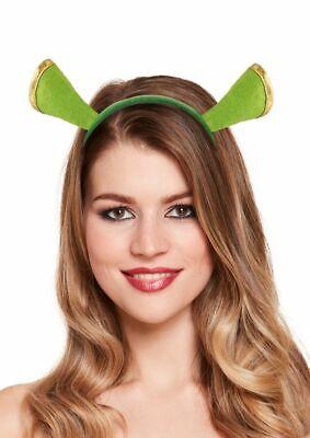 arreif mit Ohren Grün Oger Kostüm Zubehör Karneval  JGA (Shrek Kostüm Zubehör)