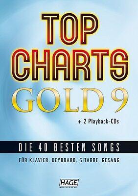 HAGE Top Charts Gold 9 (mit 2 CDs), die 40 besten Songs, EH 3899