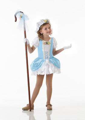 Little Miss Muffet Dress (Little Bo Peep Dance Costume Dress & Gloves Miss Muffet Clearance Child)