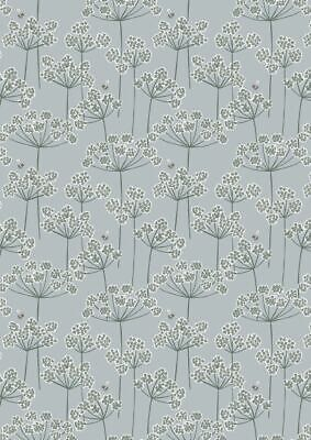 LEWIS & IRENE COUNTRY LIFE COW PARSLEY & BEE ON DUCKEGG 100% COTTON  A95.1