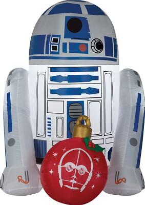 Star Wars R2D2 w Ornament Christmas Airblown Inflatable LED Outdoor Yard Decor