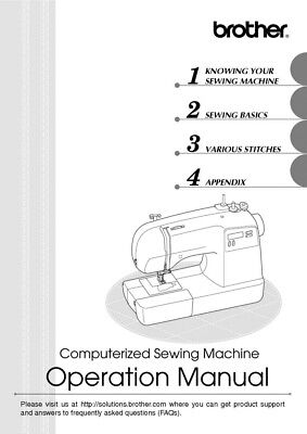 Brother XR9500PRW Sewing Machine Owners Instruction Manual R