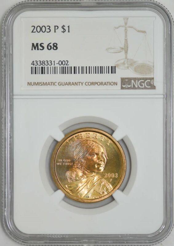 2003 P Sacagawea Dollar $ MS68 NGC 942875-7