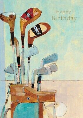 - Notes & Queries Golf Clubs in Golf Bag Birthday Card