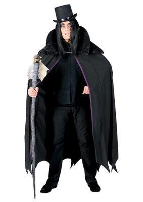 Vampir Kostüm Cape für Erwachsene Fledermaus Umhang Lederoptik - Fledermaus Kostüm Für Erwachsene