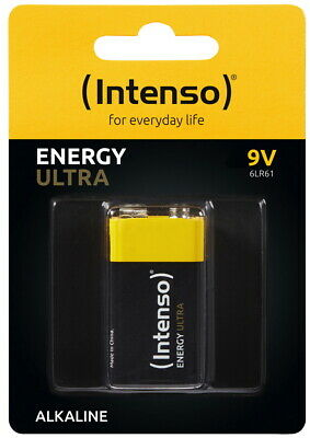 9v Alkaline-batterie (1 Intenso Energy Ultra 9V Block Alkaline Batterie Blister)