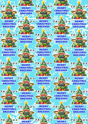FRIENDS Personalised Christmas Gift Wrap - Friends Wrapping Paper TV Shows ()