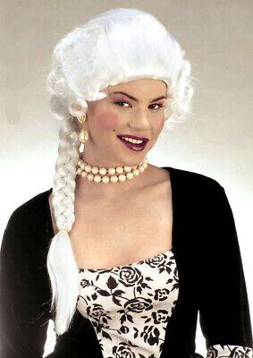 Ladies Marie Antoinette White Fancy Dress Wig & - Marie Antoinette Fancy Dress Kostüme