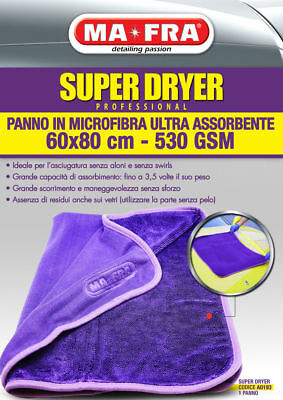 PANNO IN MICROFIBRA MAFRA Super Dryer ULTRA ASSORBENTE ESTERNI asciugatura auto