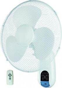 WALL MOUNTING TILT OSCILLATING COOLING FAN FOR HOME OFFICE REMOTE CONTROL