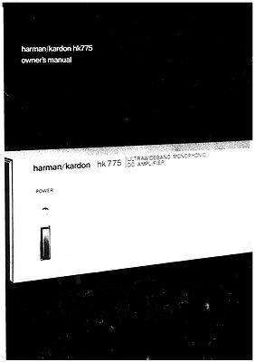 Harman Kardon HK775 Receiver Owners Manual