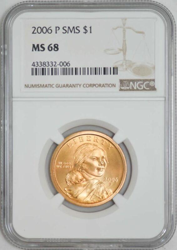 2006 P Sacagawea Dollar $ MS68 NGC 942875-3