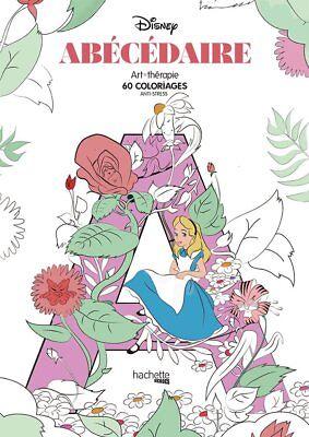 Disney Adult Colouring Book Alphabet Characters Princess Fairy Cinderella Ariel