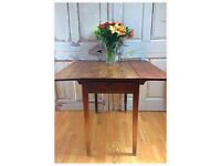 Antique wooden solid oak Drop Leaf table