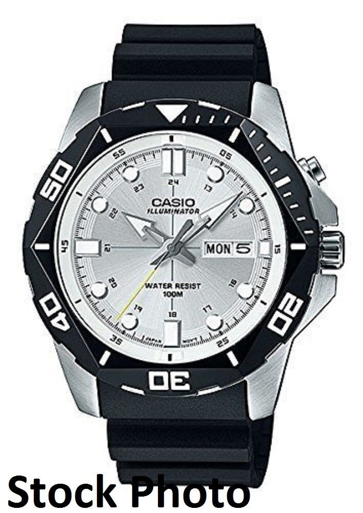 Casio Men S Mtd 1080 7a White Dial Super Illuminator Watch