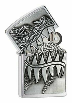 Zippo Fire Breathing Dragon Emblem Lighter #28969 - Fire Breathing Dragon